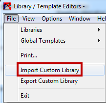 How do I import / export a library file?