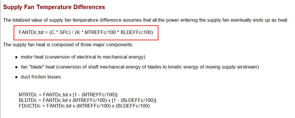 How is Fan Heat Calculated?